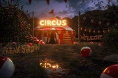 Freak Show by Frank J. Hoffmann on Circus Aesthetic, Sky Aesthetic, Carnival Themes, Circus Theme, Wattpad Background, Nocturne, Overlays, Circo Vintage, Dark Circus