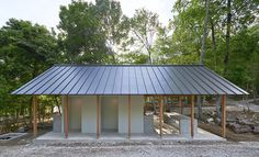 mori no terrace designs a cooking and restroom space for osaka's 10,000 sqm campground
