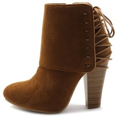 Ollio Women Shoe Faux Suede Fashion Collar Ankle High Heel Boots *** Be sure to check out this awesome product.