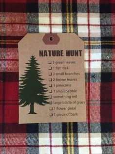 Nature Hunt/Stationery from a Rustic Camping Birthday via Kara's Party Ideas | KarasPartyIdeas.com (30)