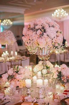 VALENTINE GLAMOUR! There is nothing more gorgeous than pale pink roses by candlelight – for Valentine's Day, a wedding or any celebration.   Stunning!