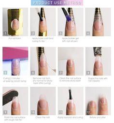 Polygel Nails, Uv Gel Nails, Gel Nail Art, Liquid Gel Nails, How To Gel Nails, Zebra Nails, Nail Polish, Nail Nail, Coffin Nails
