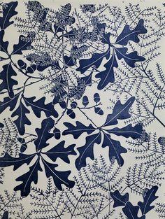 """Oakleaf"" - Wallpaper design by Marthe Armitage"
