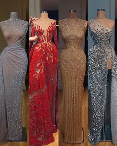 What shoes and jewelry to wear with a red sequin dress.What bag to pair with a red sequin dress? Prom Girl Dresses, Prom Outfits, Glam Dresses, Dance Dresses, Elegant Dresses, Pretty Dresses, Sexy Dresses, Beautiful Dresses, Evening Dresses