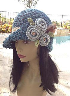 Flapper style hat crochet pattern for sale @ Ravelry