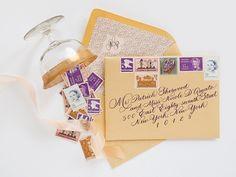 Oh So Beautiful Paper: Nicole + Patrick's Vintage-Inspired Lasercut Wedding Invitations