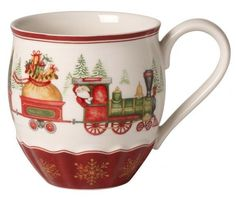 Villeroy & Boch Annual Christmas Edition Mug 2017 | FINN.no Christmas Salad Plates, Christmas China, Christmas Mugs, Merry Christmas, Porcelain Mugs, Fine Porcelain, Christmas Dinnerware, Cherry Kitchen, Blue And White China