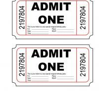 Free Printable Admission Tickets | The same printable admit one ...