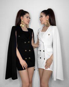 L'image contient peut-être: 2 personnes, personnes debout Twin Outfits, Teenager Outfits, Teen Fashion Outfits, Matching Outfits, Stylish Outfits, Girl Fashion, Cute Outfits, Womens Fashion, Fashion 2018
