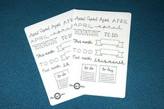 April Sticker Sheet, Banners and Titles for April, Planner Sticker Sheet, Handlettering Sticker sheet