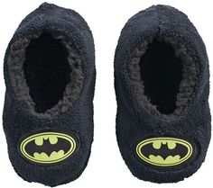 3e372251ab6 Toddler Boy DC Comics Batman Plush Fleece Slipper Socks Slipper Socks