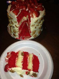 Red Velvet Strawberry Shortcake w/ Cream Cheese Icing