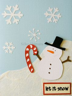 snowman - like the collage - tissue for snow, build snowflakes from small patterned arms