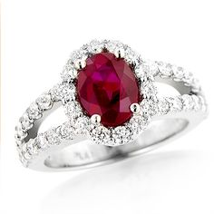 https://www.bkgjewelry.com Ruby Engagement Ring and Diamond Engagement Ring in Platinum 0.95ctd 1.35ctr