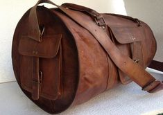 Leather Duffel Bag 24 inch leather sports Bag gym utility leather