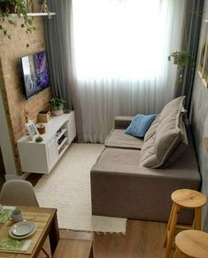 60 Exciting Small Living Room Ideas to Transform Your Cramped Space Декор . - 60 Exciting Small Living Room Ideas to Transform Your Cramped Space Декор детской ком - Tiny Living Rooms, Small Apartment Living, Simple Living Room, Living Room Interior, Home Living Room, Living Room Furniture, Living Room Decor, Living Area, Modern Living