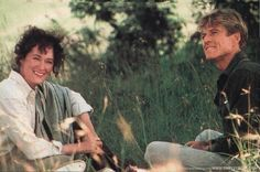 """Meryl Streep and Robert Redford on the set of """"Out of Africa"""""""