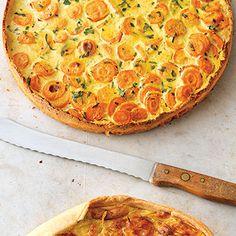 Carrot and potato tart - Carrot and Potato Tart Recipe kitchen gods - Margarita Pizza Recipes, Gourmet Pizza Recipes, Grilled Pizza Recipes, White Pizza Recipes, Healthy Potato Recipes, Tart Recipes, Raw Food Recipes, Seafood Recipes, Gastronomia