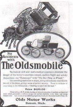 1901 Curved dash Oldsmobile Ad