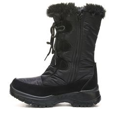 Spring Step Women's Zurich Snow Boots (Black) Winter Fashion Boots, Waterproof Winter Boots, Spring Step, 2 Inch Heels, Faux Fur Collar, Zurich, Snow Boots, Black Boots, Lace Up