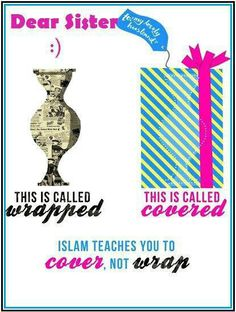 Cover, don't wrap. Muslimahs. Islam.