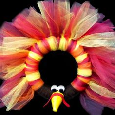Thanksgiving Turkey Tulle Wreath