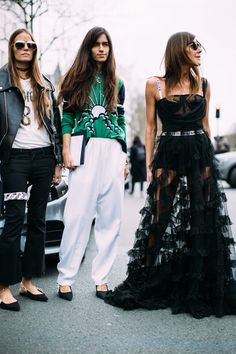 Paris Fashion Week Fall 2017 Street Style.