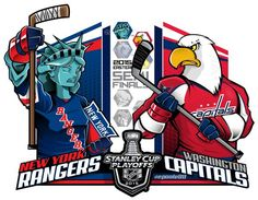 #EPoole88 (Eric Poole) is back with his renditions of the second-round Stanley Cup playoff matchups. This is for the Eastern Conference series between the New York Rangers and the Washington Capitals.
