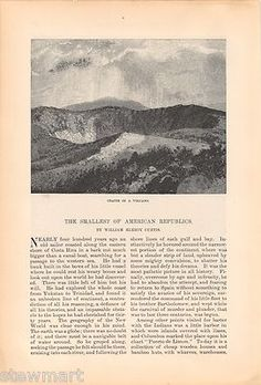 Neat antique article, with older steel prints, from the author exploring Costa Rica in the 1880s. #Costa #Rica #Coffee CHECK OUT THE PICS!