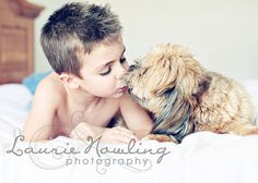 Too cute. #boy and his dog