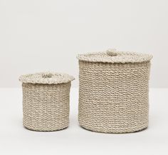 Chelston Bleached Abaca Canister Set