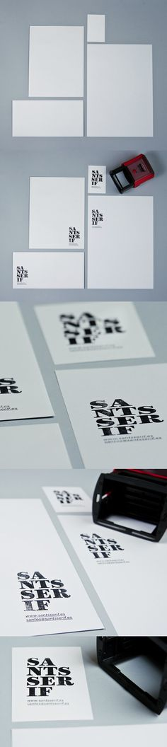 stationery / SANTS SERIF by Santos Henarejos