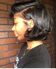 Love the length on this silk press and bob by #dmvstylist @original_negro ✂️ Looks so healthy ❤️ #voiceofhair