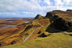 Winding road on Isle of Skye, Scotland