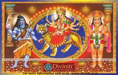 The Symbolism Of The Mother Goddess Durga @ http://diviniti.co.in/en/the-symbolism-of-the-mother-goddess-durga