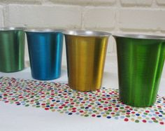 Vintage Anodized Aluminium Juice Glass/Drinking Cup