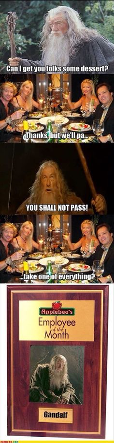 You SHALL Not PASS! (Lord of the Rings Humor)