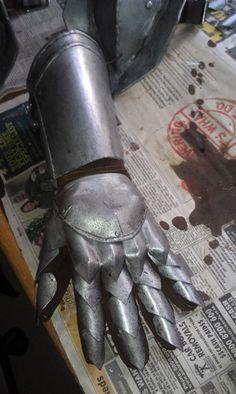 Time taken: 22 hours Materials: Expanded PVC foam board, hot glue, Wonderflex, Rub 'n' Buff in silver leaf, acrylic paints (graphite, mars black, burnt umber), 810 cap 10mm and 12mm sha…