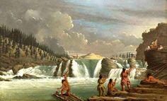 Kettle Falls, Columbia River. Un'altra versione del dipinto, leggermente diversa.
