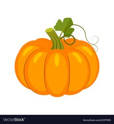 Colorful pumpkin isolated on Royalty Free Vector Image