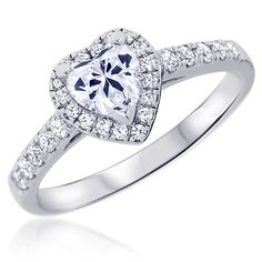 Html, Sparkle, Wedding Rings, Engagement Rings, Vintage, Jewelry, Heart Shaped Diamond, Alliance Ring, Round Diamonds