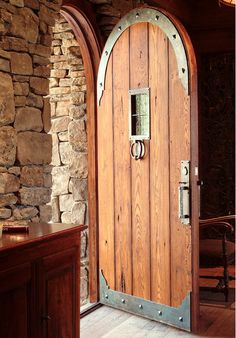 Custom doors solid wood entrance doors, interior and exterior door, custom designed residential and commercial doorways hand crafted solid wood doors Wrought Iron Doors, Arched Doors, Entrance Doors, Windows And Doors, Door Entry, Main Entrance, Old Wood Doors, Rustic Doors, Wooden Doors