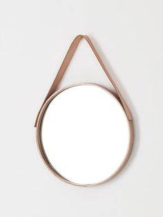 Douglas and Bec Oak Mirror Round 700mm Dia || Furniture & Products