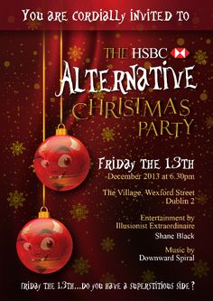 Poster and Invite design for HSBC Christmas party