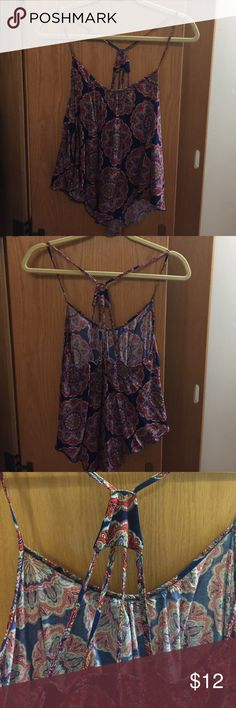 Paisley tank top Spaghetti straps; length covers top of the waist Charlotte Russe Tops Tank Tops