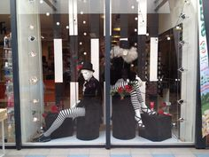 Window display@ Hairdresser. Circus theme.Styling done by Rich Art Design