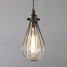 The *NEW for 2014* Cowley Pendant Light in Polished. We love the vintage industial chic of this new light.