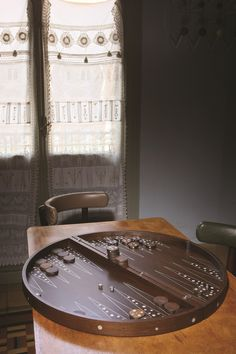 So very unique! Have you ever seen a backgammon board like this? Such a cool and contemporary take on a classic game that's been around for centuries! Special order £985. http://www.pomegranate-living.com/backgammon-set-with-dots-pattern-by-nada-debs.ir?cName=brands-nada-debs-desk-accessories-games
