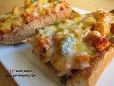chicken fajita french bread pizza on http://www.pomanmeals.com