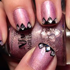 Black Crown Tipped Nails